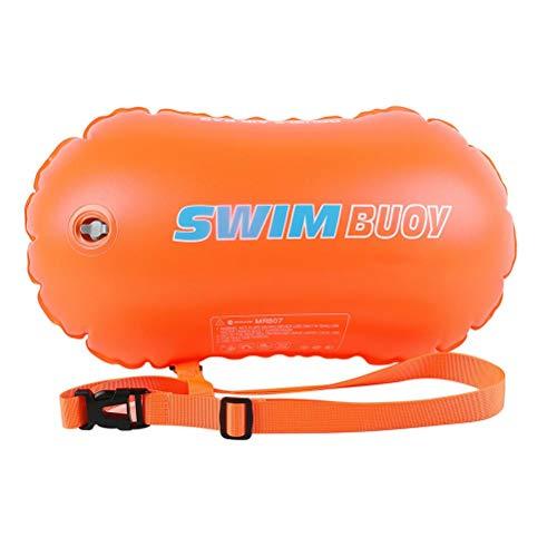 Boya de PVC Boya de seguridad para natación Bolsas de aire dobles Bolsa de boya de remolque Bolsa de seguridad para deportes acuáticos con cinturón ajustable para entrenamiento y carreras seguros