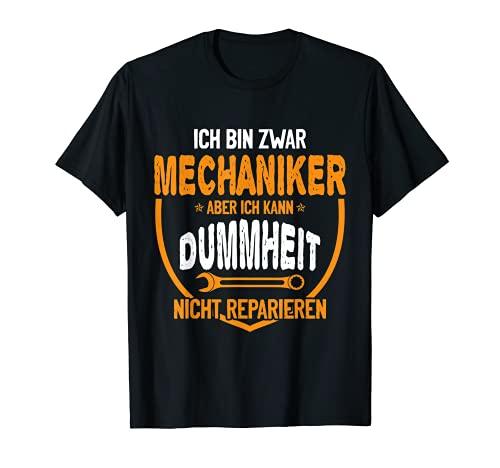 Kfz Mechaniker Auto Handwerker Werkzeug Werkstatt Dummheit T-Shirt