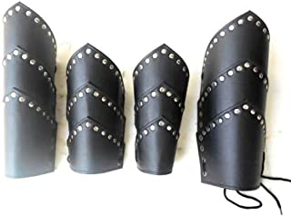 NauticalMart Medieval Faux Leather ARM Guard & Leg Guard