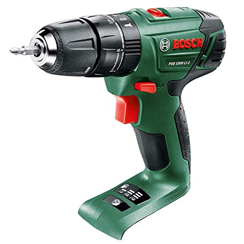 BOSCH PSB 1800 LI CORDLESS COMBI HAMMER DRILL BODY ONLY + CARRYING CASE, REPLACES OLDER PSB18LI2 BODY NEW COMPACT POWERFULL MODEL, COMPATIABLE WITH ALL POWER4ALL TOOLS, BATTERIES AND CHARGERS AVALIABLE TO PURCHASE SEPERATELY