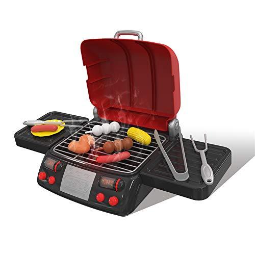 NA Mädchen küche pretend play toys simulation elektrische bbq grill wurst flügel tomatensauce kochmaschine kinder kinder puppen spielzeug rot