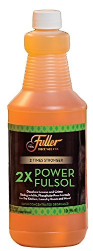 Fuller Brush 2X Power Fulsol Degreaser - Powerful Multi-Surface Degreaser Concentrate - All Purpose Oil, Grease & Grime Cleaner For Bike, Automotive, Grill, Bathroom & Kitchen