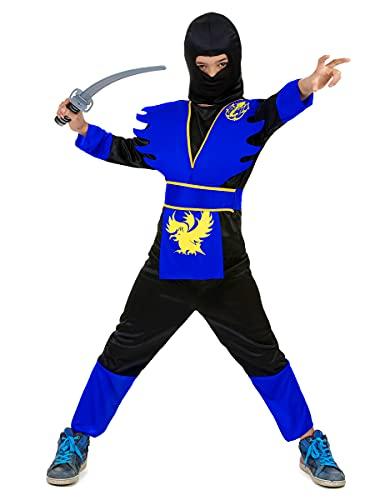 DEGUISE TOI Déguisement Ninja Bleu garçon - L 10-12 Ans (130-140 cm)