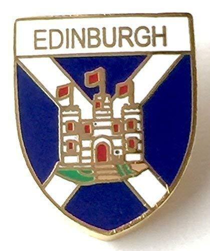 Emblems-Gifts T922 Emaille-Anstecknadel, Motiv: Schottland-Andreaskreuz & Edinburgh Castle, vergoldet