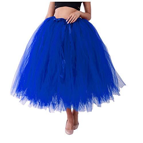 Marrmo Falda de tul para mujer, de un solo color, con capas de tul suave y opaca, en rosa claro azul Talla única