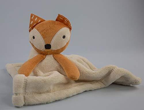 Cream Fox Baby Security Blanket