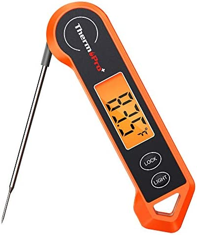 ThermoPro TP19H Waterproof Digital Meat Thermometer for Grilling with Ambidextrous Backlit and product image
