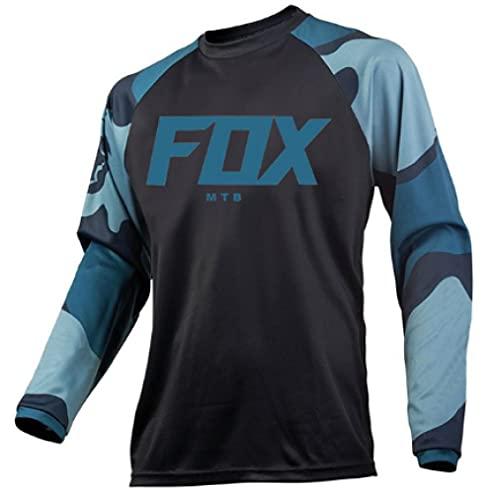 2021 Men's Motocross Jersey Camiseta MTB Enduro Long Sleeve Cycling Jersey Foxmtb Downhill Shirt Fxr Mx Dh Road Bicycle Tops Man-M