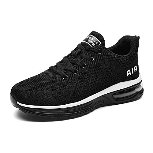 Lamincoa Air Cushion Sneakers Lightweight Tennis Sport Air Athletic Running Shoes for Outdoor Sport Black,7.5