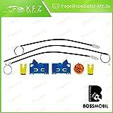 Bossmobil LAGUNA (BG0/1_), LAGUNA 2 II Grandtour (KG0/1_), Delantero derecho, kit de reparación de elevalunas eléctricos