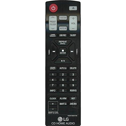 LG AKB73655736 Bookshelf Stereo System Remote Control
