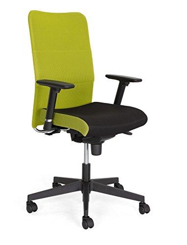 Nowy Styl MONTANA-PLUS Arbeitsdrehstul, polyester, black_green, 70 x 70 x 117 cm