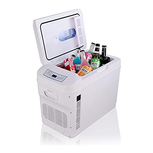 LK-HOME Mini Fridge Suitable for Bedroom Sleeping Car, Silent Portable Car Refrigerator Compressor, Portable 28L Small Refrigerator