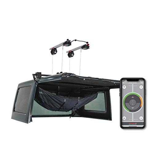 Jeep Hard Top Hoist. Lift, lower, and store your Jeep Wrangler's Hard Top in minutes. iOS & Android...