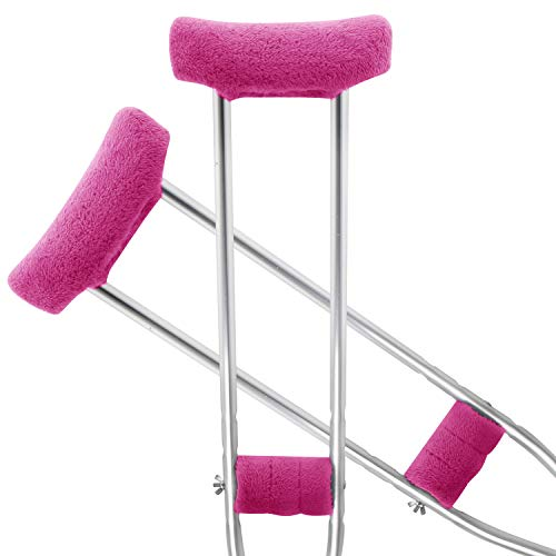 TOMMHANES AMISGUOER Crutch Pads Underarm Crutches Pads Crutch Hand Grip Covers Crutch Pads Washable OneSize (2 Armpit, 2 Hand Cushion) (CP10P)