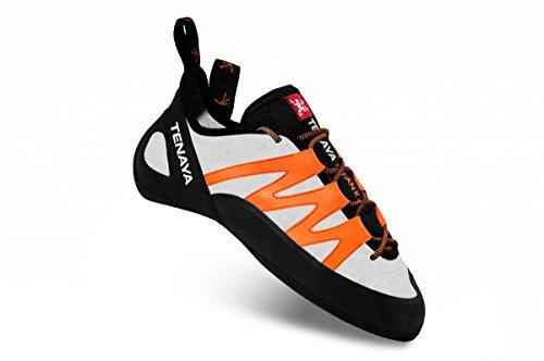 Tenaya Tatanka Katzenfüße Climbing Shoes Kletterschuh 44 Weiß Orange