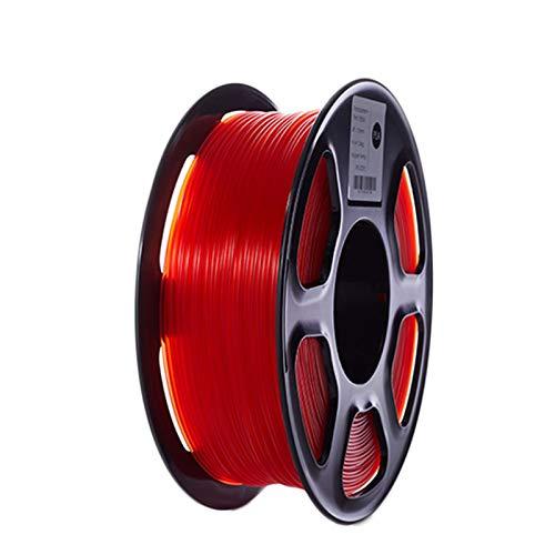 YANGDONG Transparenter PLA-Kunststoff Für 3D-Drucker, 1,75 Mm 1kg Spool PLA-Filament, 3D-Druckmaterialien Liefert (Color : Transparent Red)
