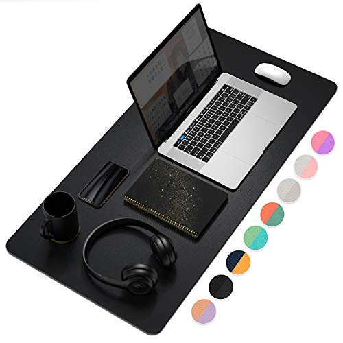 Office Desk Pad, Ultra Thin Waterproof PU Leather Mouse Pad,...