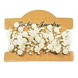 Mattierte Perlenkette Perlenband Perlengirlande Perlenschnur Weihnachten Advent Hochzeit Deko Tischdeko - 9