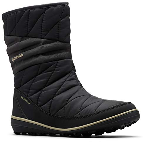 Columbia Women's Heavenly Slip II Omni-Heat Ankle Boot, Black, Silver sage, 7 Regular US