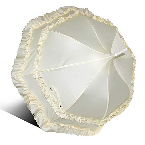 Bruidsparaplu Creatieve Bruiloft Zonnige regen Pagode Paraplu Zwart en Wit Poeder Dubbele kant Grote kant Prinses Paraplu