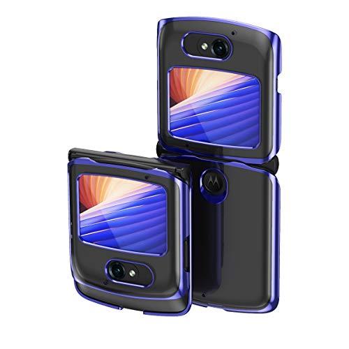 Hülle® Transparente Beschichtung Handyhülle Ultra Dünn Folable,Antikollisions,Komfortable Grip Full Protection Schild Kompatibel für Motorola Razr 5G/Motorola Razr 2 (2)