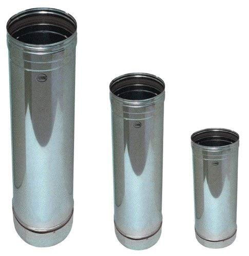 Tubo para chimenea de acero inoxidable (Ø 200 mm. H. 1000 mm).