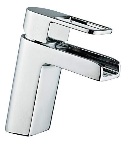 Grünblatt - Grifo mezclador monomando para el baño tipo cascada