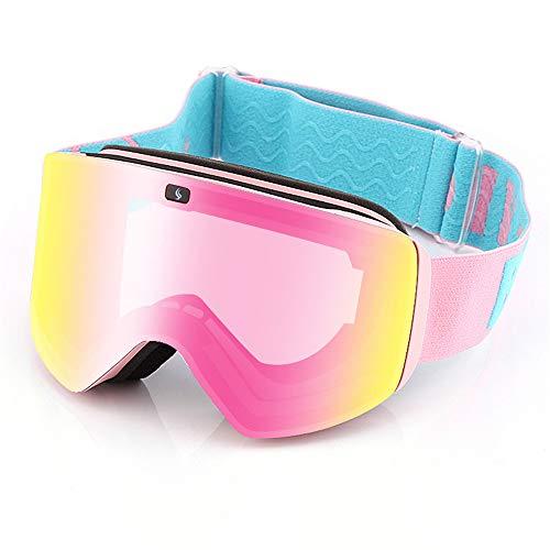 WOXING Esquiando Protección UV Gafas,Aire Libre Deportes Ciclismo Gafas De Sol,Escalada Mujer Hombre Gafas,Grande Carrera Moda-E 17.5x9.8cm(7x4inch)