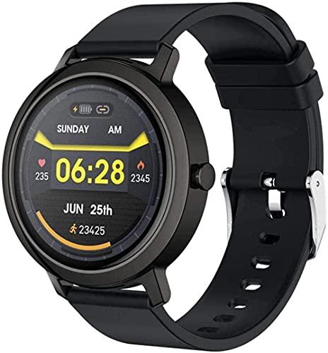 Reloj inteligente 1 3 pulgadas IPS de alta definición de la información de la pantalla a color recuerda múltiples modos deportivos impermeable pulsera de fitness llamada Bluetooth pegamento negro