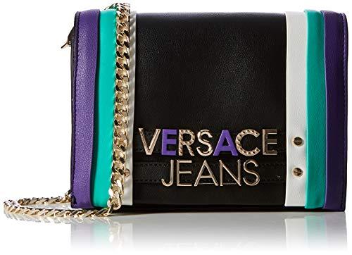 Versace Jeans Bag, Borsa a Tracolla Donna, Nero (899/982), 5x14x20 cm (W x H x L)