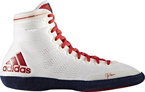 Adidas Adizero XIV Herren Wrestling Stiefel Ring Schuhe UK-Größe 6 weiß / rot