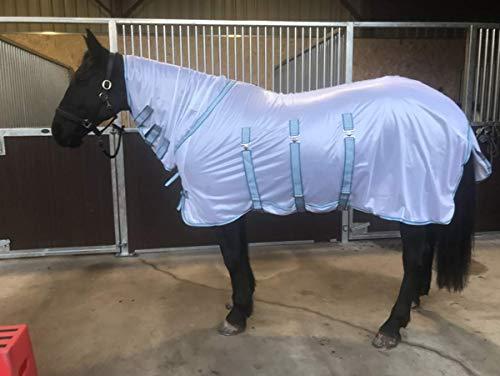 Sheldon Buxton Plus Combo vliegendeken voor paarden - wit