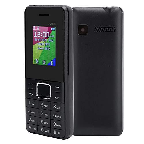 EBTOOLS1 Teléfono móvil con Pantalla LCD de 1.8 Pulgadas, teléfono móvil con Doble Modo de Espera, teléfono móvil con Llave Grande Bluetooth, teléfono para Personas Mayores, 32 MB + 32 MB(Negro)