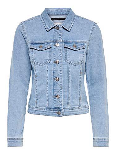 ONLY Damen Jeans Jacke OnlWesta 15204559 Light Blue Denim 34