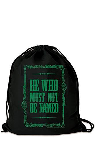 LOGOSHIRT - Harry Potter - Lord Voldemort - Er, zijn naam - sporttas - gymtas - zwart - gelicentieerd origineel design