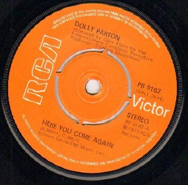 DOLLY PARTON - HERE YOU COME AGAIN - 7 inch vinyl / 45