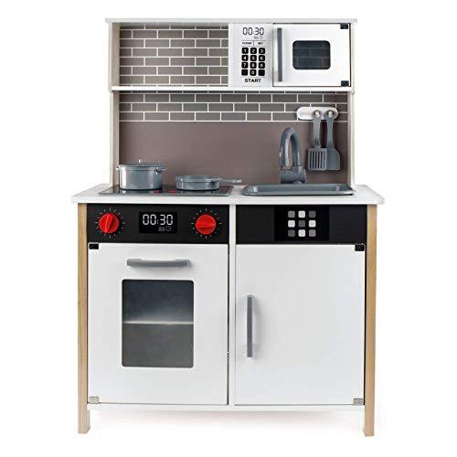 WOOMAX - Cocina juguete, Cocinita con Luz y Sonidos, Cocina juguete madera, Cocinita con Accesorios, Utensilios cocina...