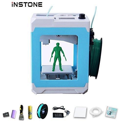 iNSTONE Easier 3D Printer Kit With iNSTONE Slice Software TF Card Sample PLA Filament Clean Kit Desktop 3D Printer DIY Mini 3D Printer Online print WIN/MAC