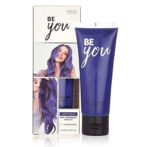 Semi-Permanent Hair Dye - Vibrant 2.36 Oz. Tubes Temporary Hair Color - Ammonia and Peroxide Free -Vegan and 100% Cruelty-Free Toner - Lasts for 7-15 Shampoos - by Splashes and Spills