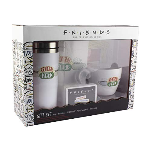 Friends Merch Crate | Cuaderno, taza de viaje, taza
