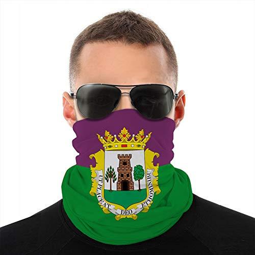 fgdhfgjhdgf 150 Bufanda de Microfibra Transpirable Multifuncional Media Cubierta Escudo Bandera de plasencia en Extremadura de españa Cubierta a Prueba de Viento