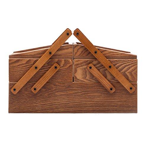 Wooden Jewelry Box NAN Holz Schmuckschatulle Europäische kreative Kosmetik Aufbewahrungsbox Nähkästchen Retro Antik Schmuckschatulle