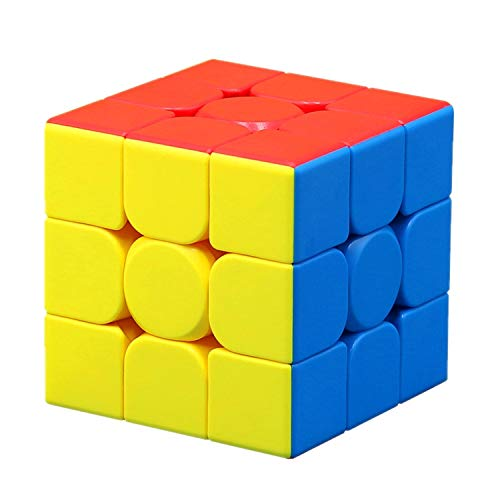 Rubiks Cube 3x3x3 Stickerless Magic Cube Smooth Blocks Puzzles Vivid Color Environmental...