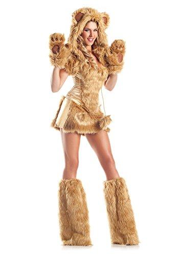Sexy Fell-Kostüm GOLDEN BEAR - 7-teilig, Größe:XS/S
