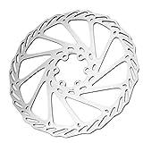 Disco de freno de bicicleta, Reemplazo accesorio de la bicicleta de la zapata de freno de la bicicleta del acero inoxidable antioxidante del tamaño 4(180mm)