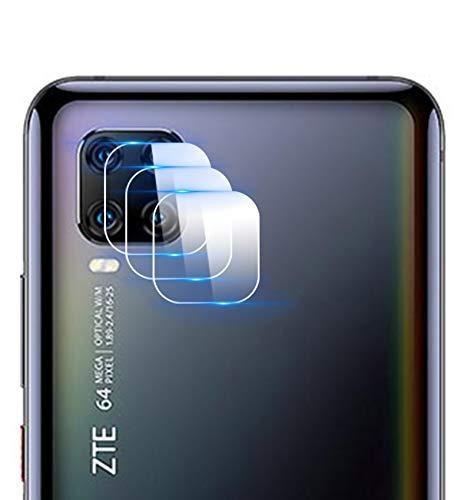 NOKOER Kamera Panzerglas Kompatibel für ZTE Axon 11, [3 Stück] Superdünnes Gehärtetes 2.5D Kamera Schutzglas, 360 Grad Schutzkamera- Transparent