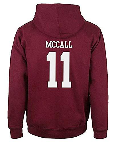 Donna Uomo Autunno Inverno Moda Felpa con Cappuccio Beacon Hills Lacrosse Manica Lunga Hooded Hoodies Sweatshirt Pullover Tops (Rosso McCall 11, S)