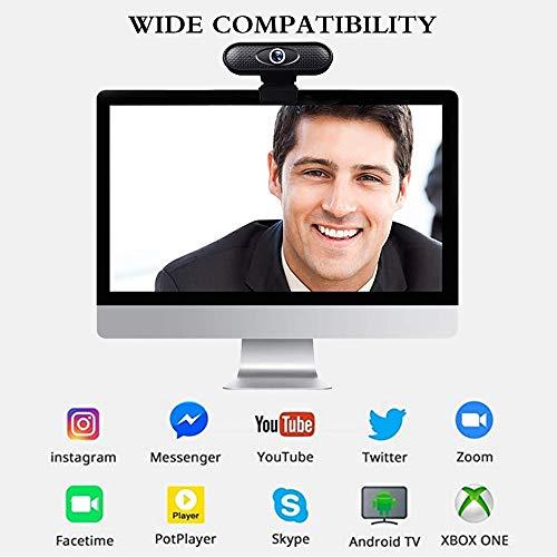 ZKCREATION Webcam - Webcam PC para Ordenador Cámara Web Full HD 720P con micrófono, computadora portátil PC Webcam de Escritorio USB 2.0 Webcam para videollamadas, Estudios, conferencias, grabación miniatura