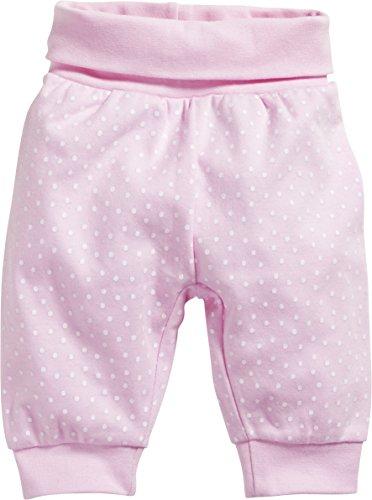 Schnizler Baby - Mädchen Jogginghose Pumphose, Babyhose Punkte mit elastischem Bauchumschlag, Rosa (Rosa 14), Vorzeitig (Herstellergröße: 44)